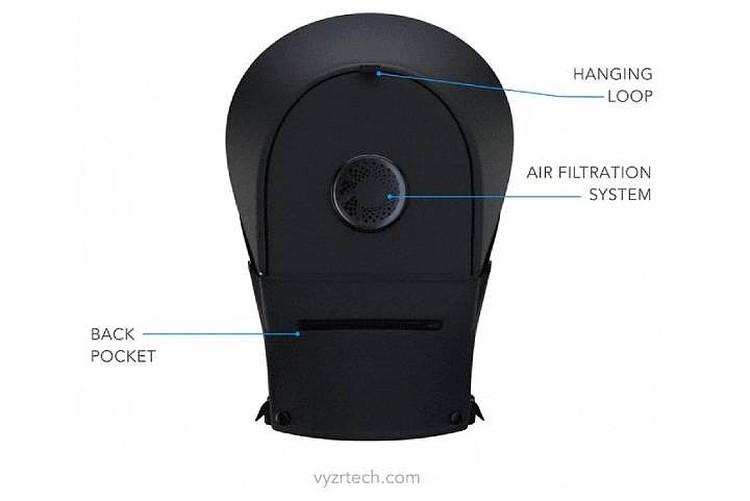 Шлем канадского скафандря - вид сзади. Фото: hazmatnation.com