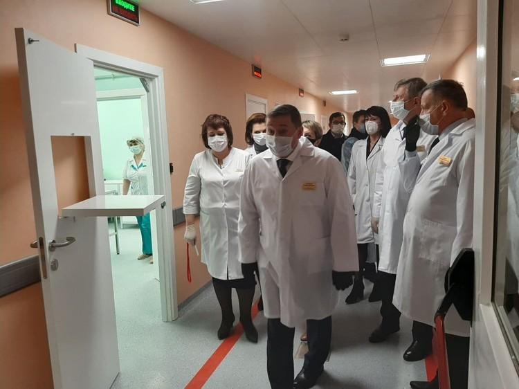 Как будут лечить ковидных пациентов, показали губернатору Андрею Бочарову