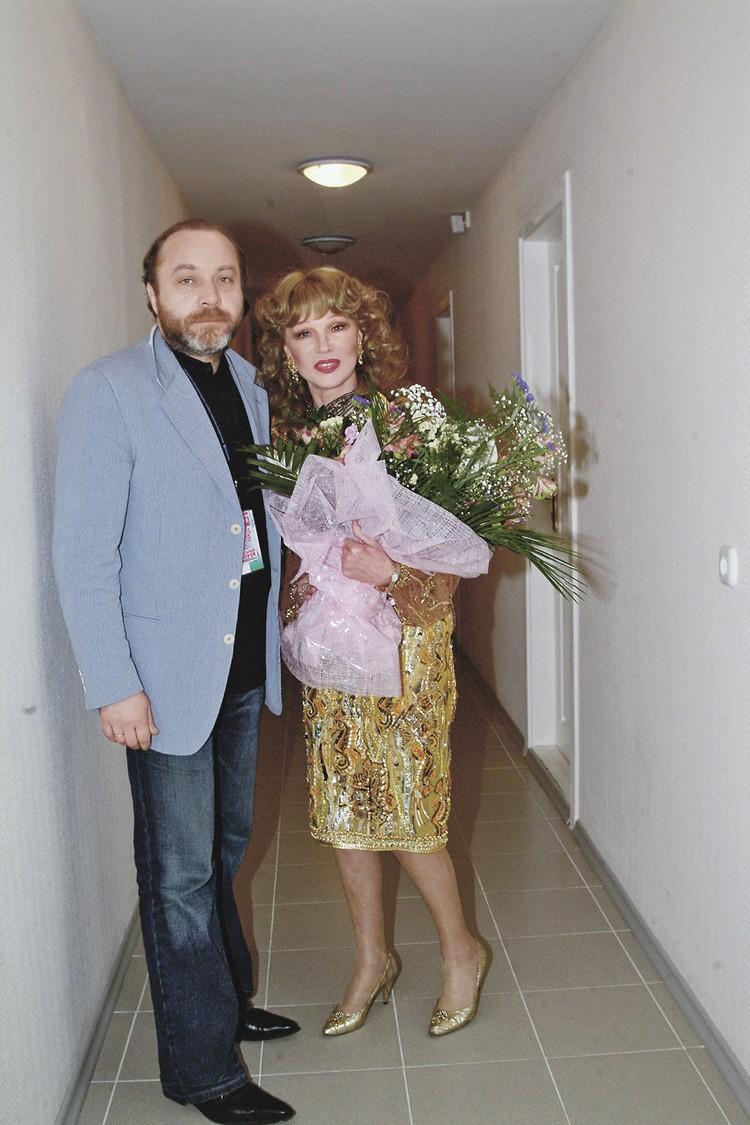 С мужем продюсером Сергеем Сениным.