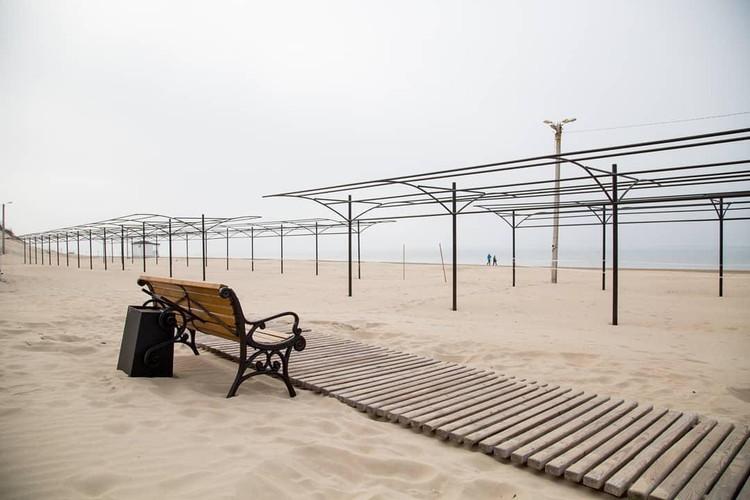 Зимний пляж. Фото: администрация Краснодарского края