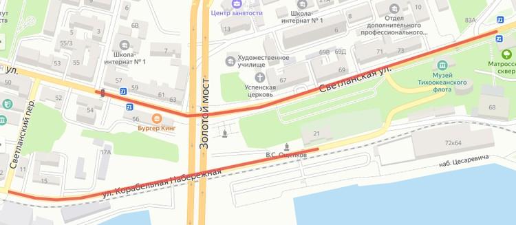 Закрытые для движения участки улиц во Владивостоке