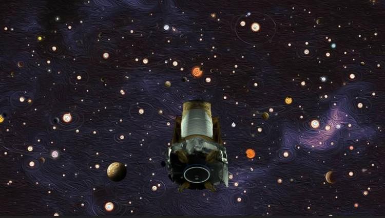 Так в NASA проиллюстрировали результаты работы орбитального телескопа Кеплер: мол, продемонстрировал, что систем, с обитаемыми планетами, сотни миллионов.