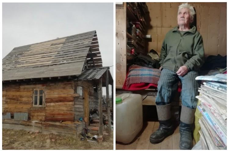 Деду Толе поменяли окна, отремонтировали полы, теперь берутся за крышу. Фото: Волонтеры движения добровольцев Забайкальского края «Мы вместе»