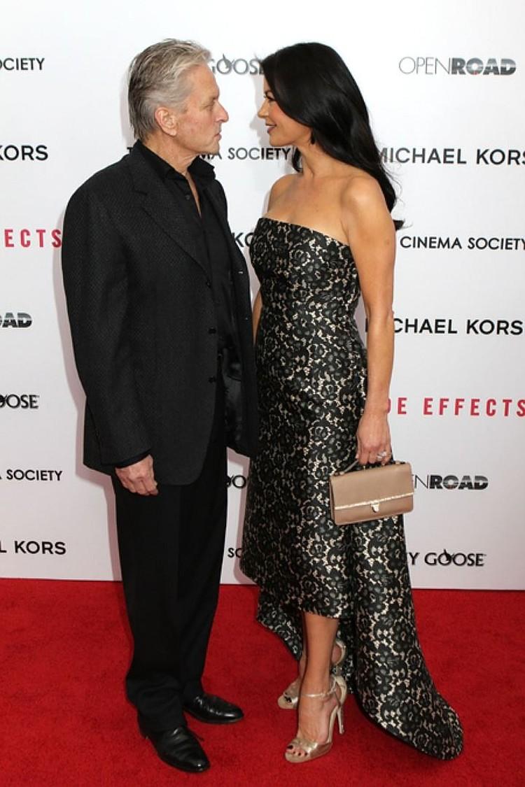 Кэтрин с мужем Майклом Дугласом.