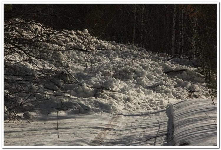 Лавина на Мамае - не редкость. Фото: Сергей КЛИМОВ.