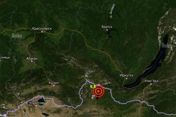 Эпицентр землетрясения находился на границе с Монголией