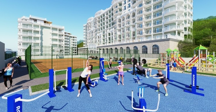 Построят и спортивную площадку. Фото: компания «Еврострой»