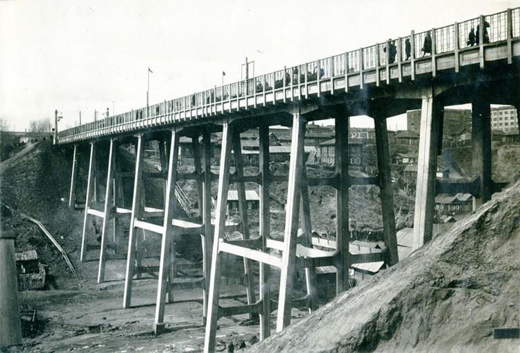 А вот это – мост через реку Каменка. Фото: Музей Новосибирска.