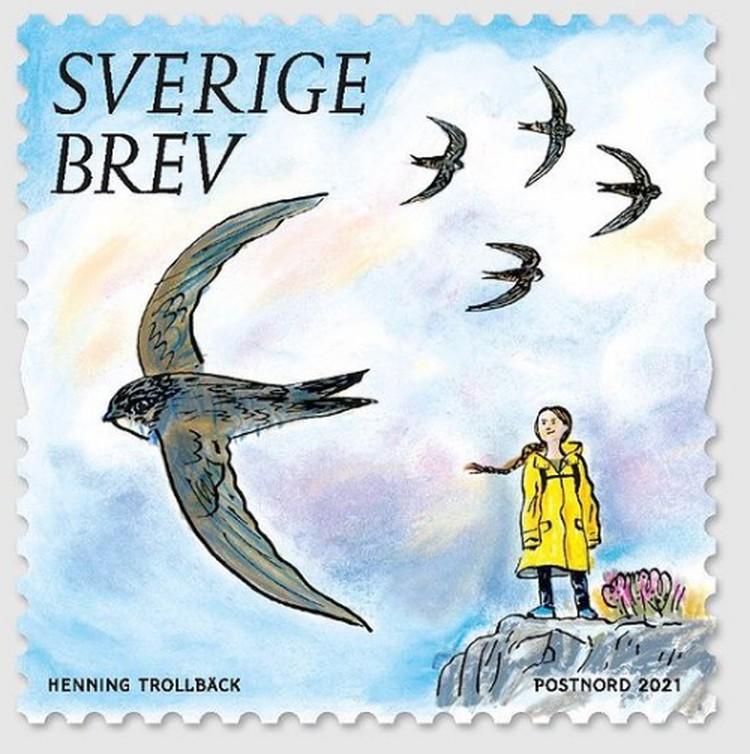 Рисунок для марки выполнен Хеннингом Тролльбеком. Фото: сети