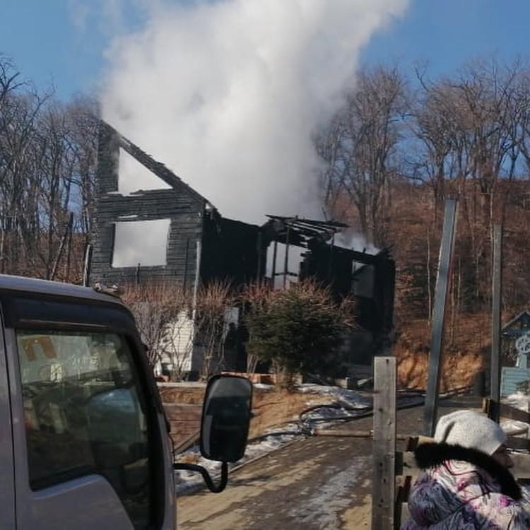 Пожар случился 5 января. Фото: instagram/_.obraztsova._