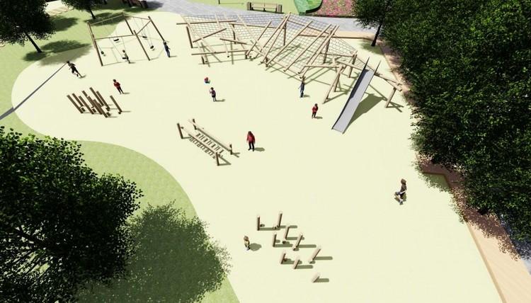 Другой вид детской игровой площадки. Фото: УрФУ, предоставлено администрацией Екатеринбурга