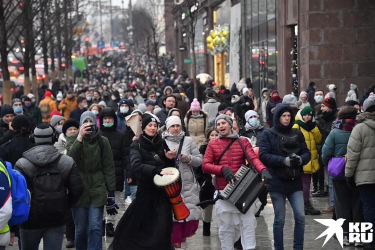 Протестанты шли под музыку