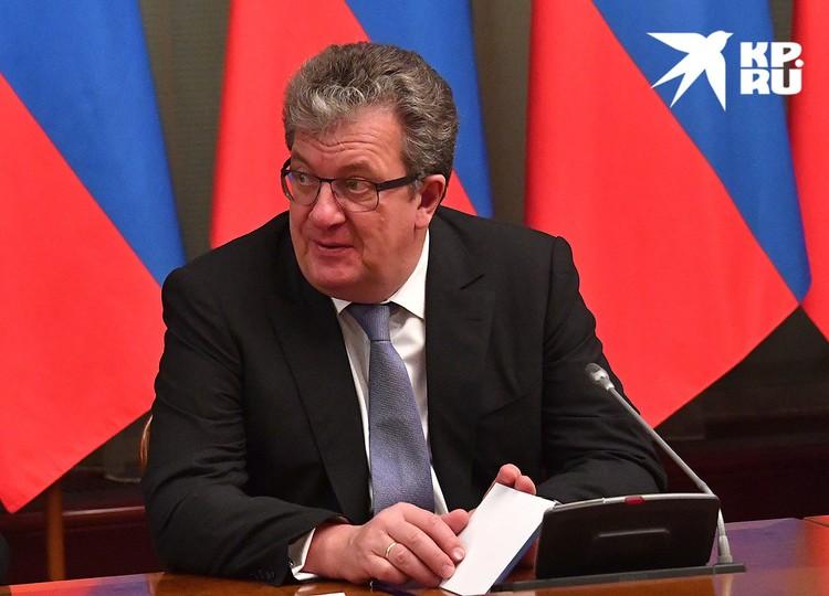 Сергей Приходько на встрече президента с членами правительства, 2016 г.