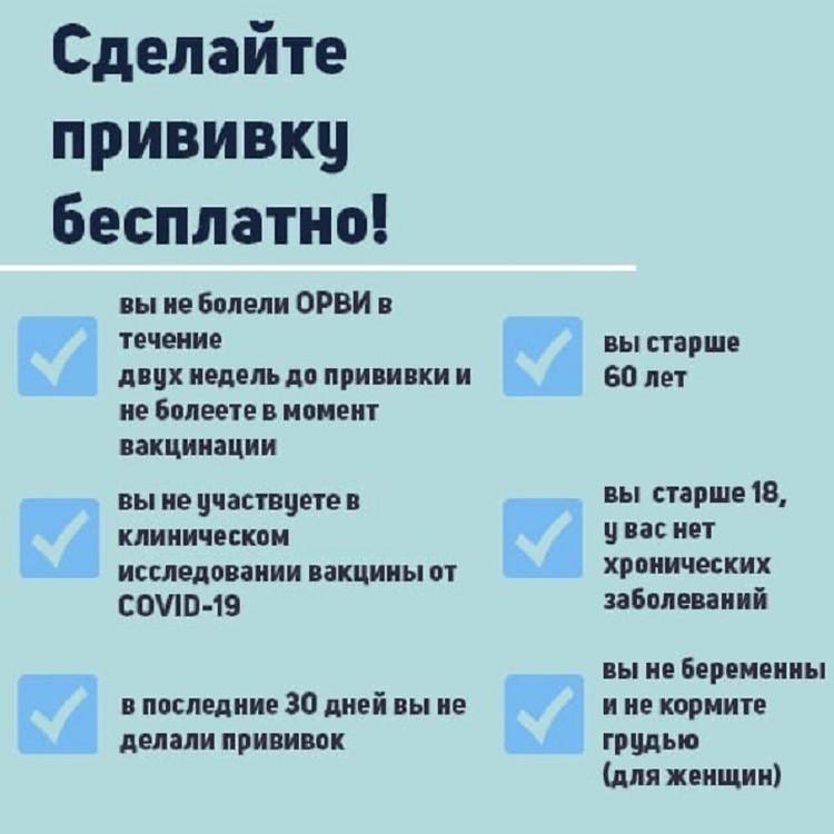 Кому можно поставить прививку от коронавируса. Фото: Минздрав Иркутской области