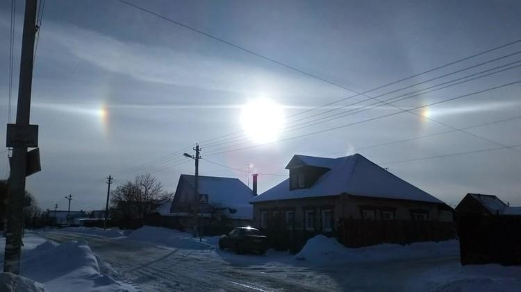 Гало создаёт эффект мыльного пузыря вокруг солнца. Фото: Танюша Гулиева