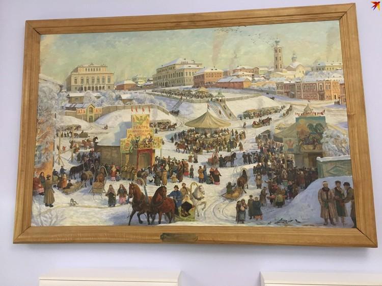 Вот так выглядела площадь перед Дворянским собранием во времена юности Шаляпина
