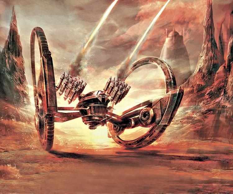 Создатель «Звездных войн» Джордж Лукас поместил в свою вселенную похожий на машину Лебеденко межпланетный дроид-танк.