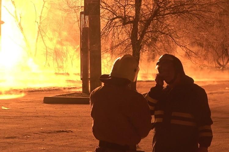 Спасатели боролись с пламенем полтора часа. Фото: МЧС ЛНР