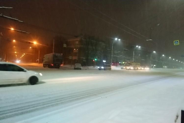 Снег. Кемерово.