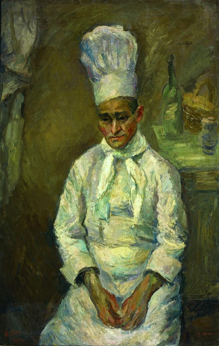 """Герои полотен Фалька - люди с историей. Как этот повар, белый офицер, уроженец Кубани, эмигрировавший в Париж и открывший свое заведение """"Борщ"""""""