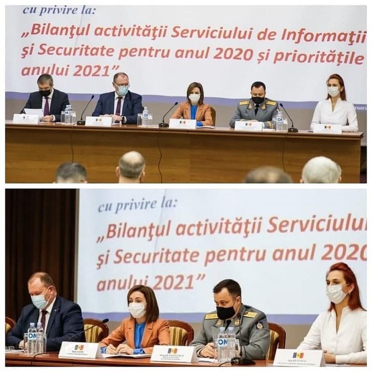 Есть Сырбу (верхний снимок) - нет Сырбу. Фото: СИБ (верхнее) и администрации президента РМ