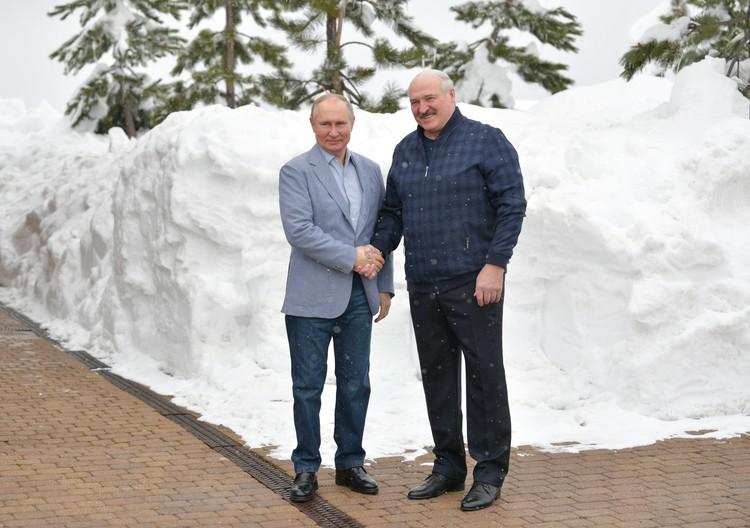 Главы двух государств встретились в неформальной обстановке.
