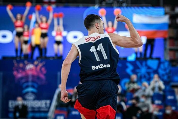 Тяжелый форвард сборной России Семен Антонов. Фото: предоставлено пресс-службой FIBA.