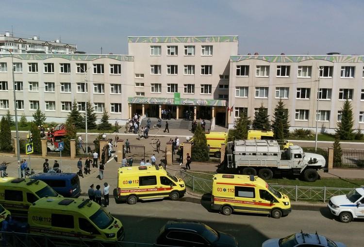 Прошло трое суток со дня массового расстрела в казанской гимназии №175.