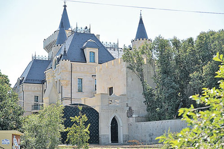Стройка сказочного диснеевского замка в деревне Грязь идет уже почти пять лет - и он почти готов к заселению.