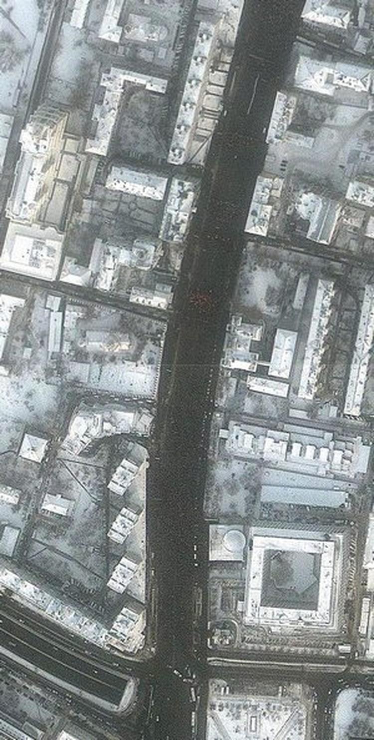 Фото колонны протестующих со спутника - кликните, чтобы увеличить