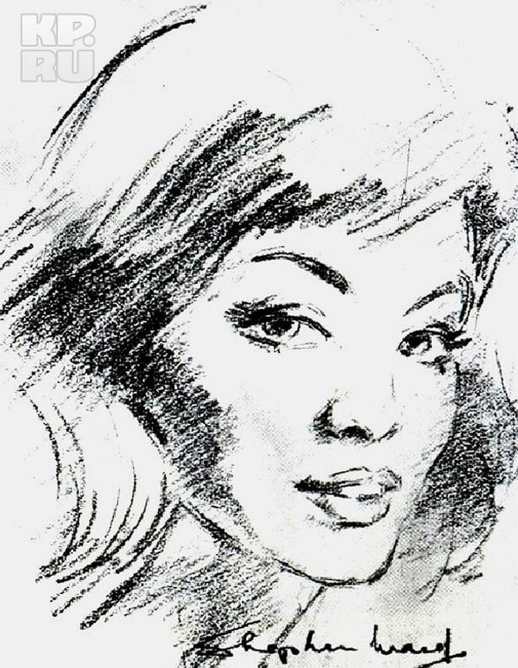 Кристина Килер. Рисунок Уарда.
