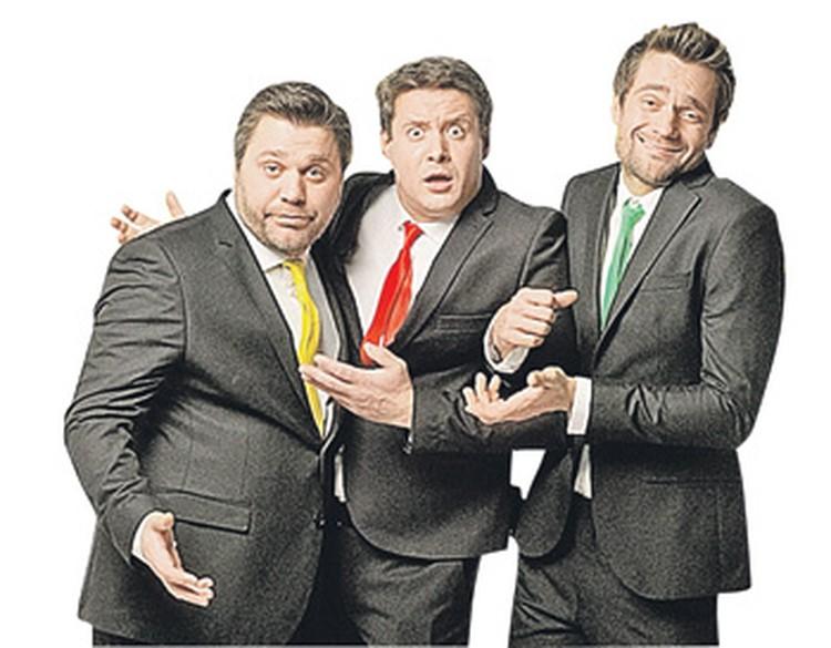Неразлучные друзья Паша, Сева и Эдик (cлева направо) хоть и строят из себя крутых мужиков, но на деле оказываются подкаблучниками...