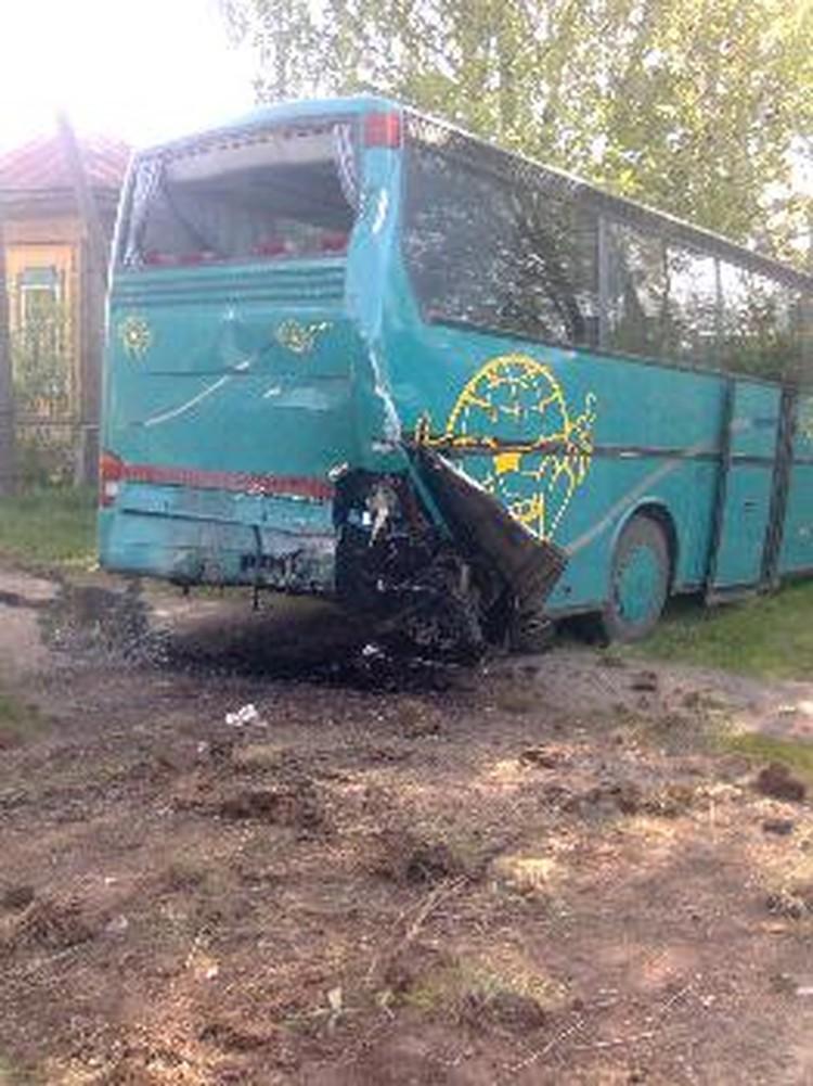 пассажиры автобуса не пострадали.