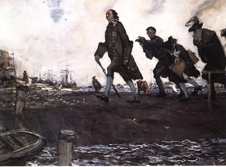 В. А.Серов «Петр I». 1907 г.  Государственная Третьяковская галерея. Москва.