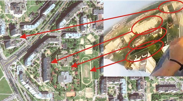 ... и сравниваем его со спутниковой картой.