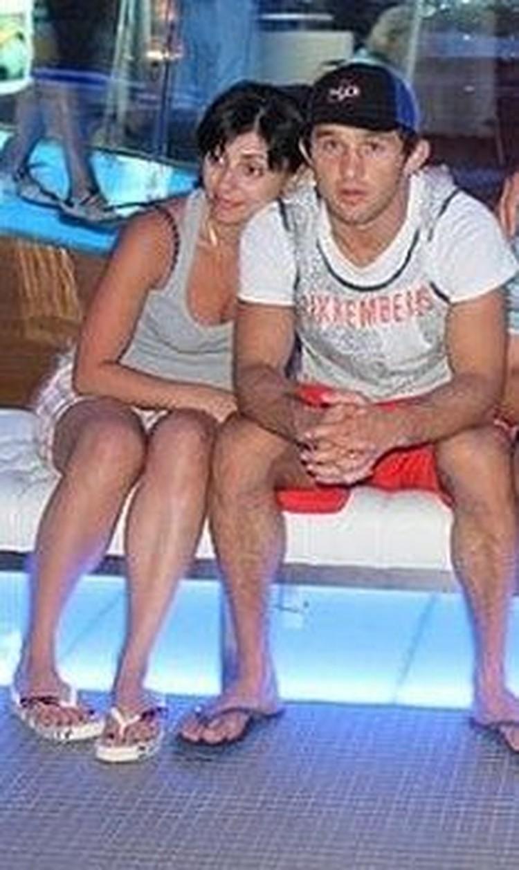 С женой Кристиной.