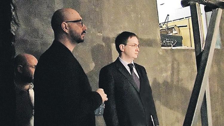 Министр Владимир Мединский и режиссер Кирилл Серебренников в «Гоголь-центре».