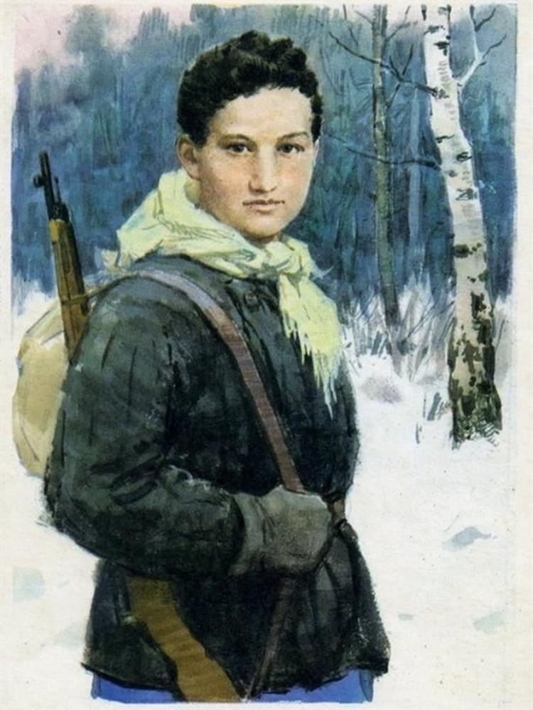 Зоя Космодемьянская, первая женщина, удостоенная звания Герой Советского Союза (посмертно) во время Великой Отечественной войны