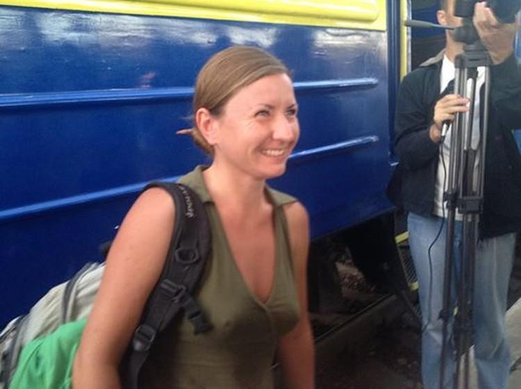 Журналистов встречали как героев. Фото со страницы Анастасии Жуковой в Фейсбук