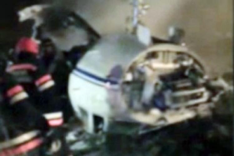 «Фалькон», вылетавший из Москвы в Париж, столкнулся со снегоуборочной машиной