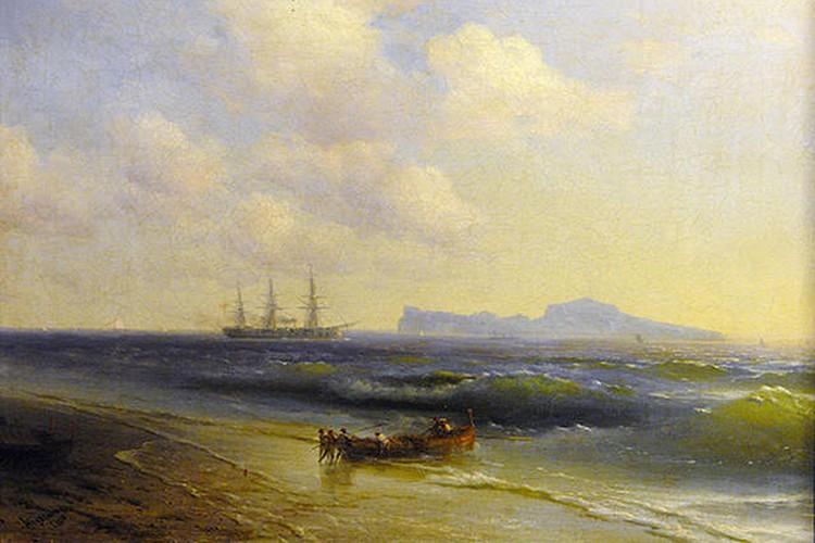 Картина «Море и острова Капри» кисти Айвазовского.