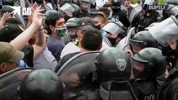 На церемонии прощания с Марадоной начались беспорядки