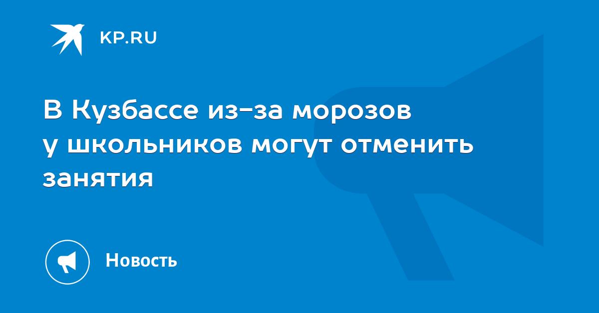 В Кузбассе из-за морозов у школьников могут отменить занятия 600be84abe1
