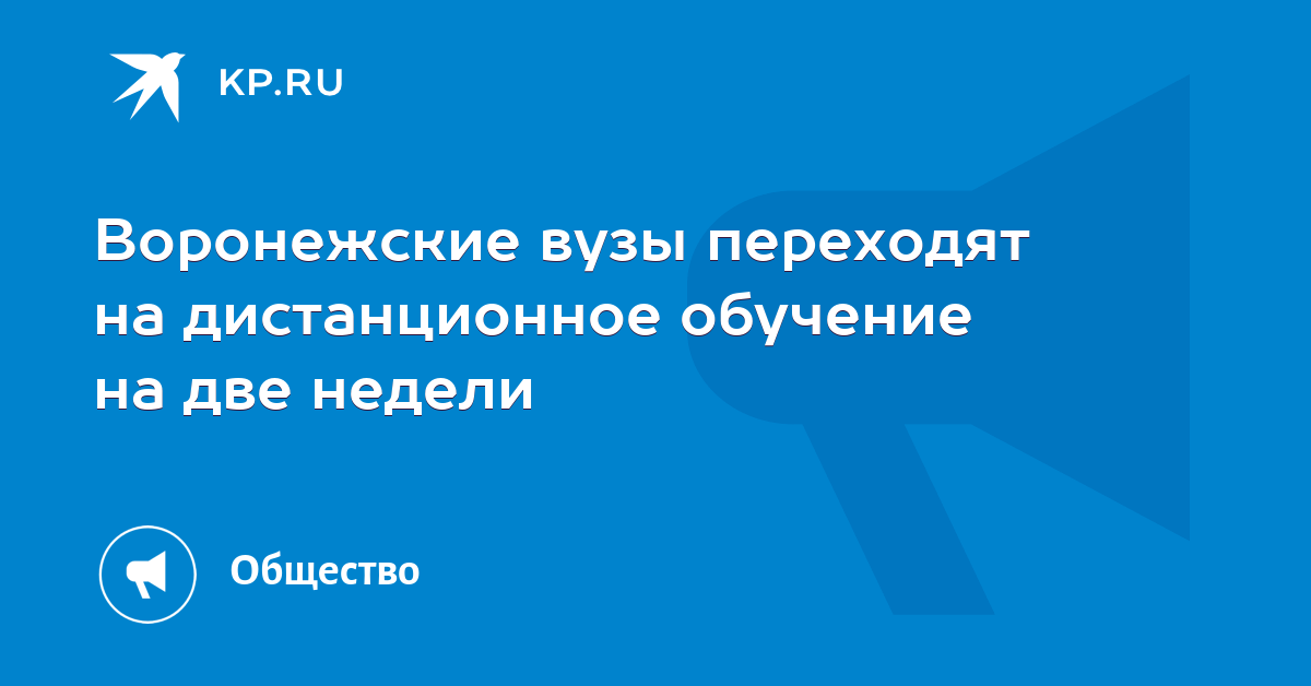 Воронежские вузы переходят на дистанционное обучение на две недели