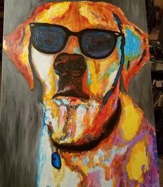 А ещё Джон обожает рисовать своего пса