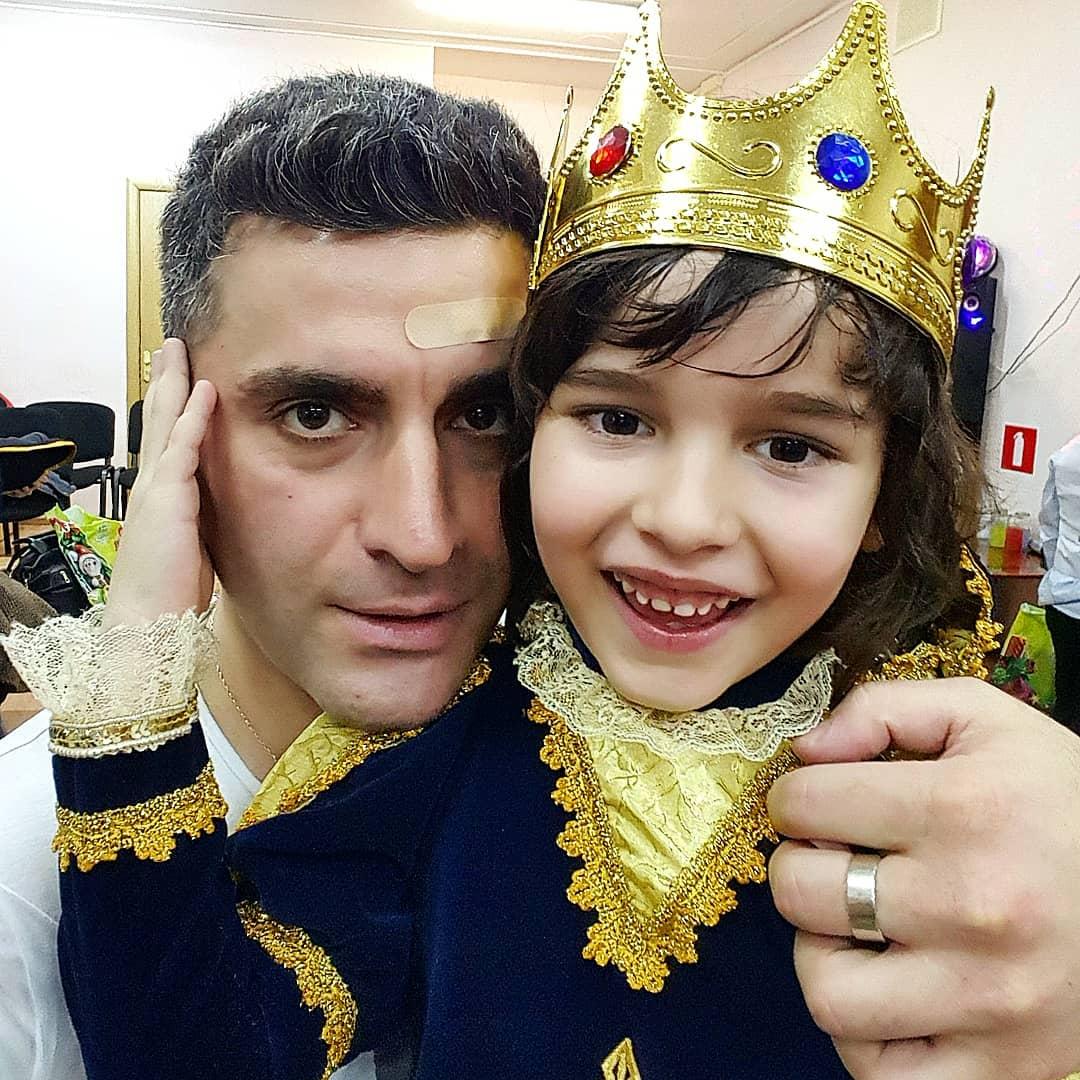 Бывший муж Анфисы Гурам Баблишвили с сыном Соломоном