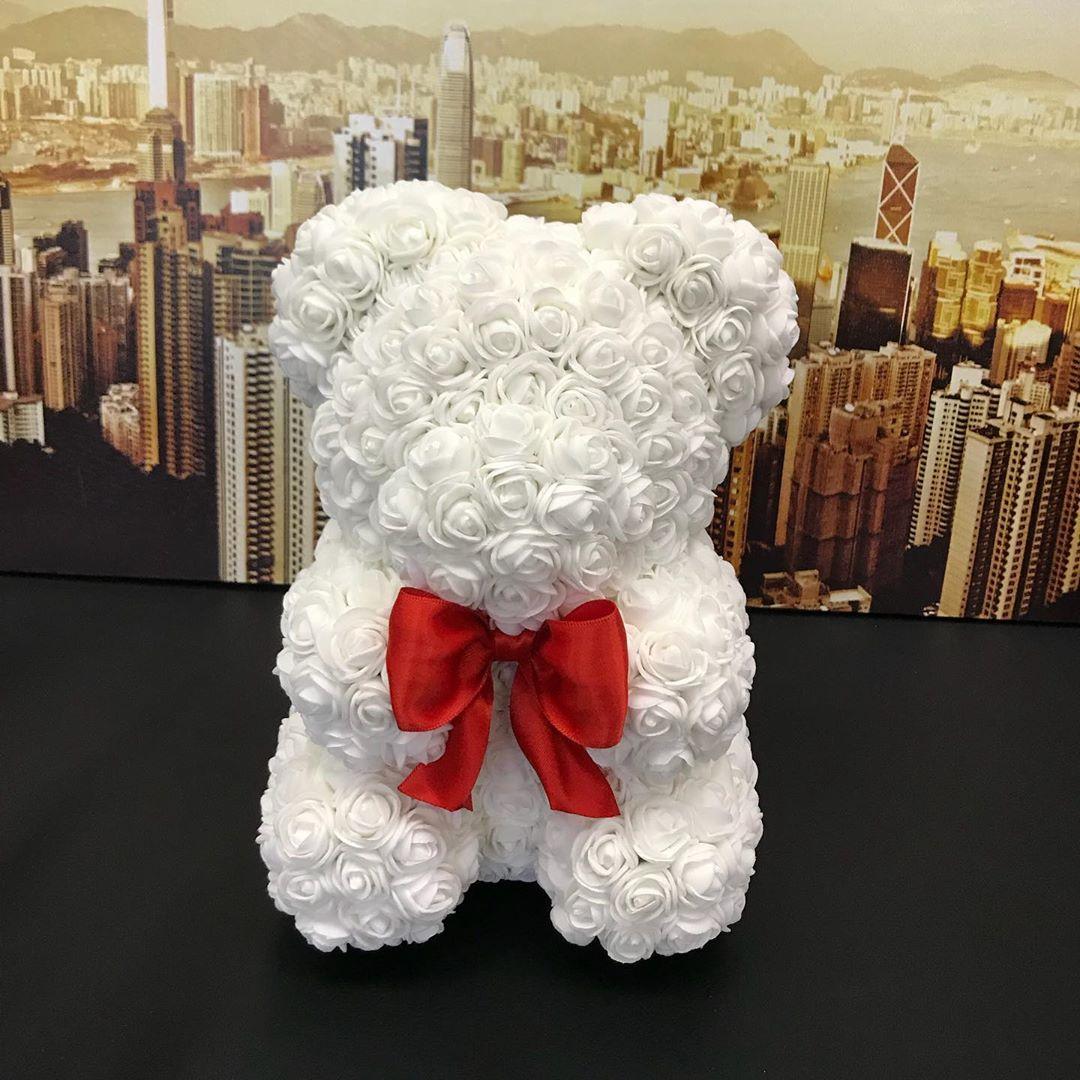 Мишка из роз. Размер - 23 сантиметра. Высота цена 1 450 рублей.