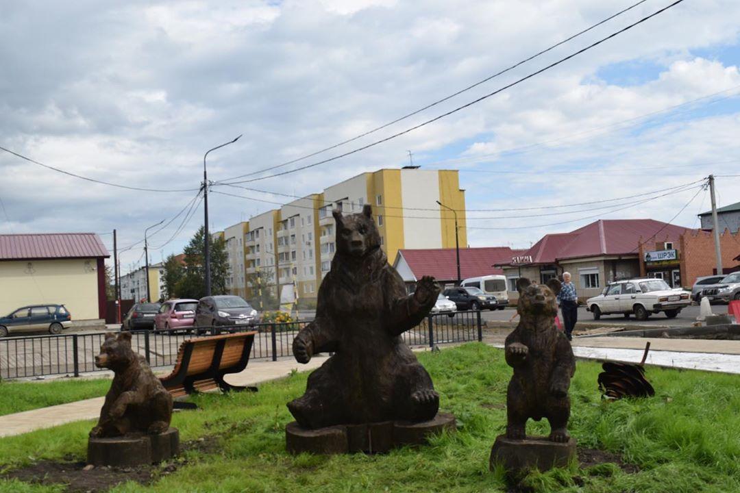 Три медведя в Тулуне