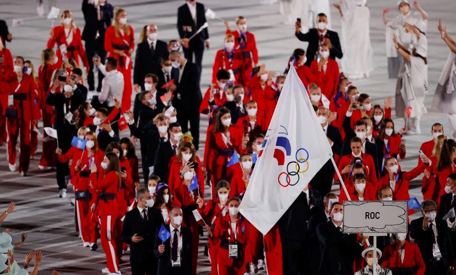 Сборная России вышла на церемонию Открытия Игр-2020 77-й по счету. Фото: Reuters