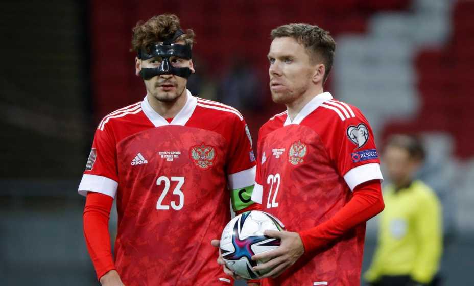 Капитан сборной России Далер Кузяев и дебютант Сергей Терехов запомянт матч против Словакии надолго. Фото: Reuters